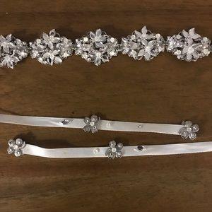 Maria Elena bridal headband or belt